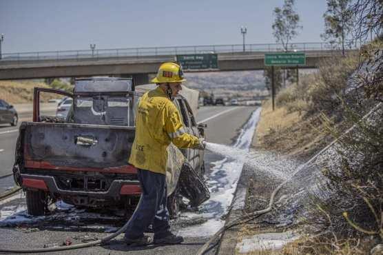 Vehicle Fire SR 14