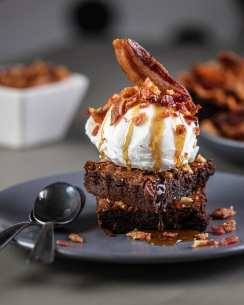 Bacon Brownie Sundae