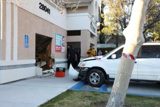 Car Crash into Building