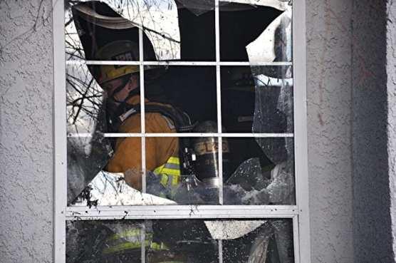 Firefighter Inside Housefire