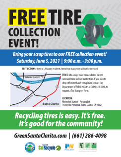 free tire collection event