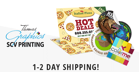 Free Local Delivery for Orders over $150! – SCV Printing – Thomas Graphics