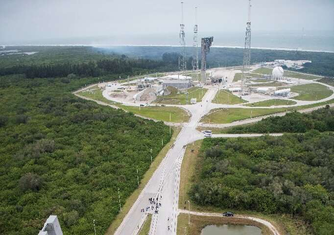 A giant Atlas V rocket will take off shortly before sunrise from the famed Cape Canaveral on Florida's coastline, where all US c