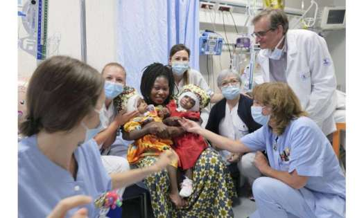 Twins joined at head separated at Vatican pediatric hospital