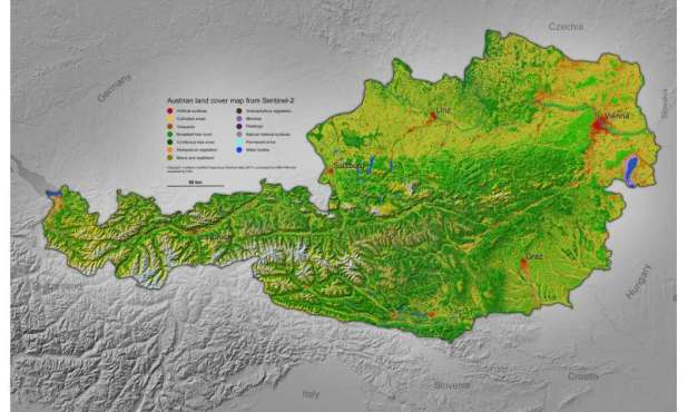 Cloud Computing: Land-cover maps of Europe from the Cloud