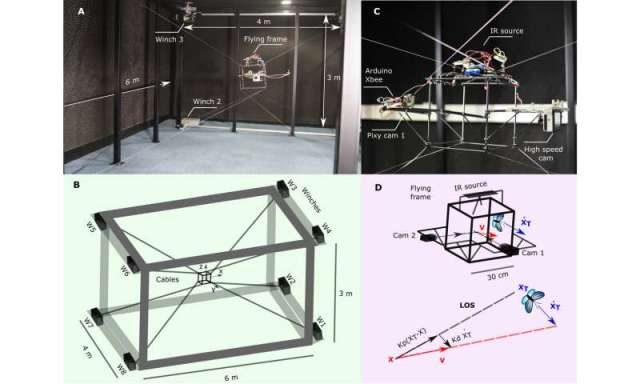 A robot to track and film flying insects