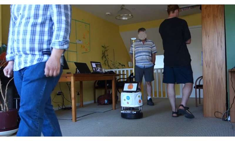 A robot that can track specific people and follow them around
