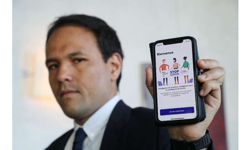 French Junior Minister for the Digital Economy Cedric O presents his country's StopCovid contact tracing app—but Paris declined