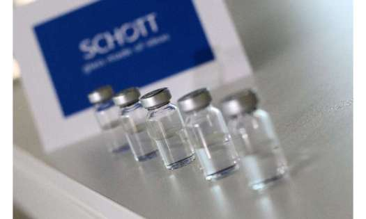 German glass company Schott makes the glass vials to carry the vaccine