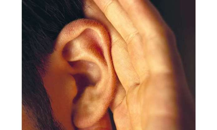 Say what? like animals, people perk up their ears to hear