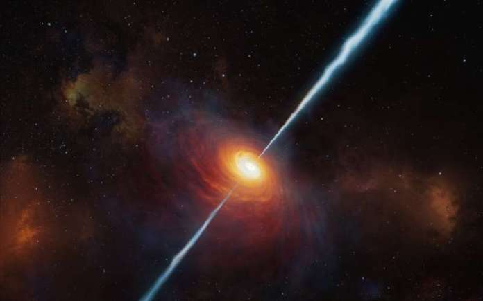 Most distant quasar with powerful radio jets discovered