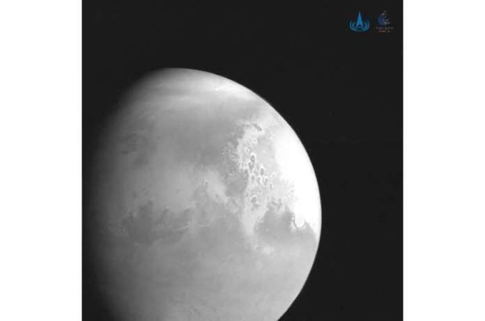 A probe from China's Tianwen-1 mission - which translates as 'Questions to Heaven' - is expected to touch down on Mars in May