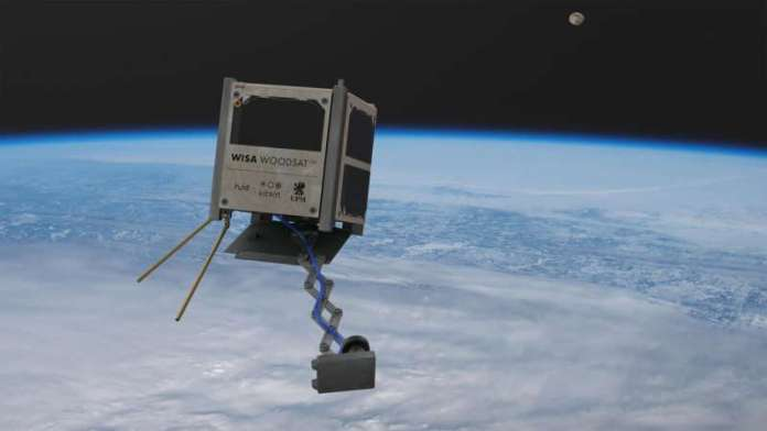 ESA flying payloads on wooden satellite