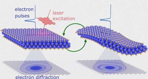 Light-induced shape shifting of MXenes