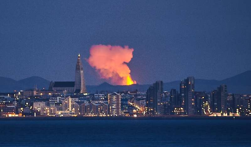 The volcano is only 40 kilometres (25 miles) from Iceland's capital Reykjavik