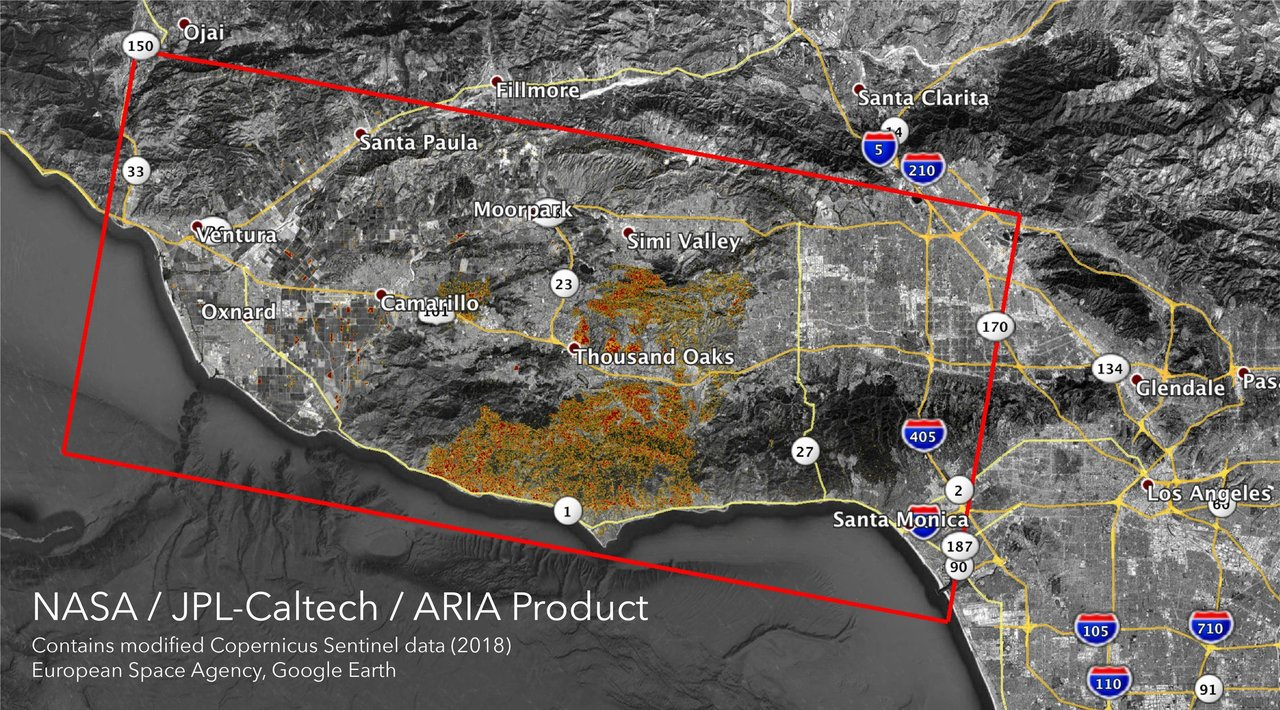 To revisit this article, visit my profile, thenview saved stories. Nasa S Aria Maps California Wildfires From Space