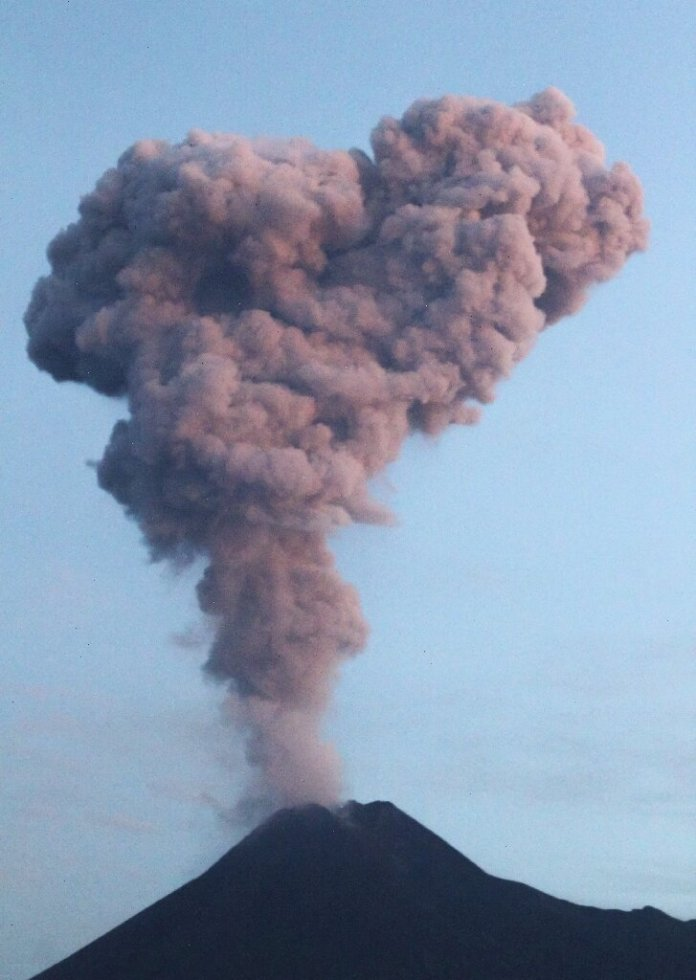 Erupting Indonesian Volcano Spews Ash Lava