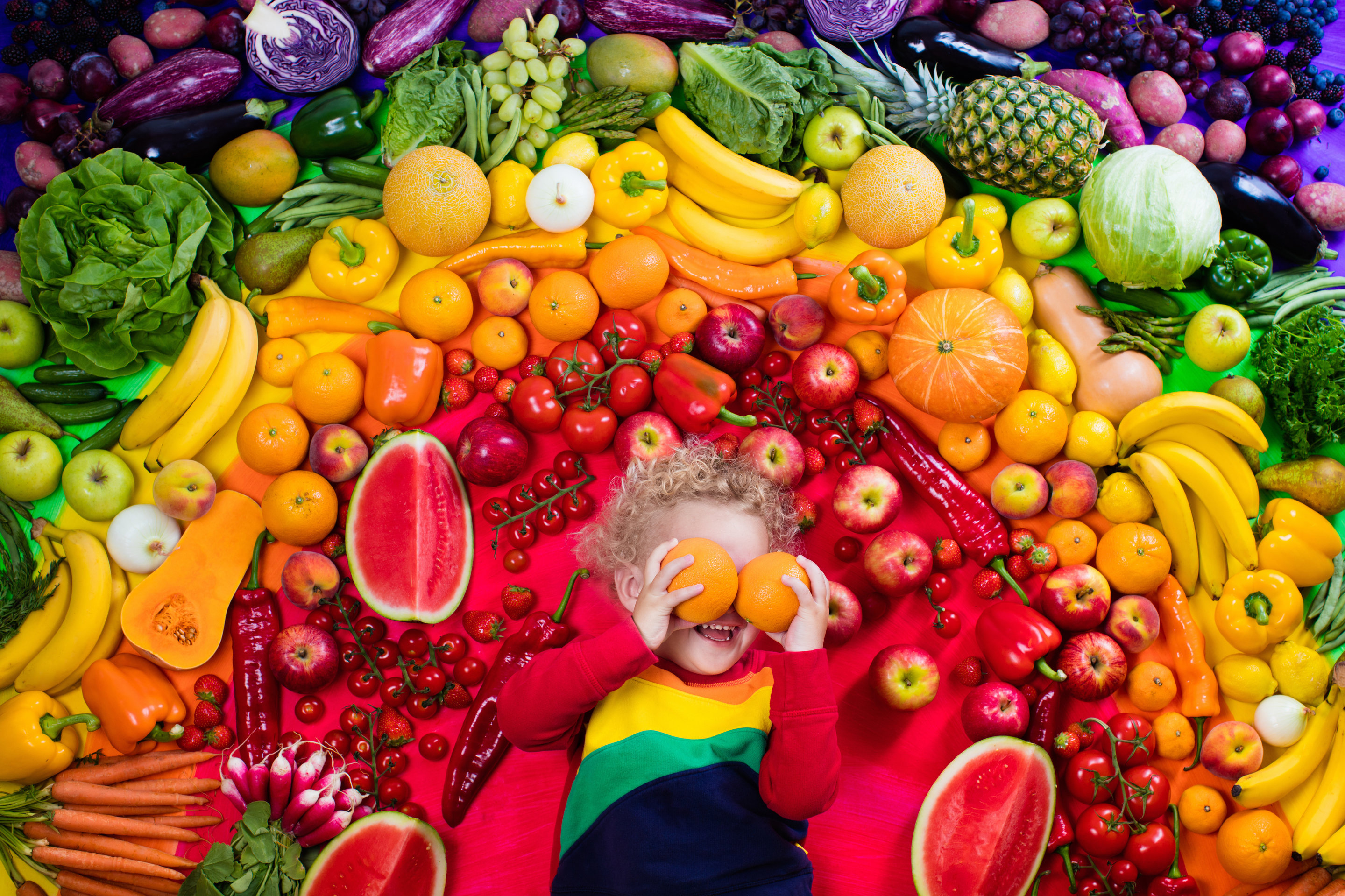 How To Get Children To Eat A Rainbow Of Fruit And Vegetables