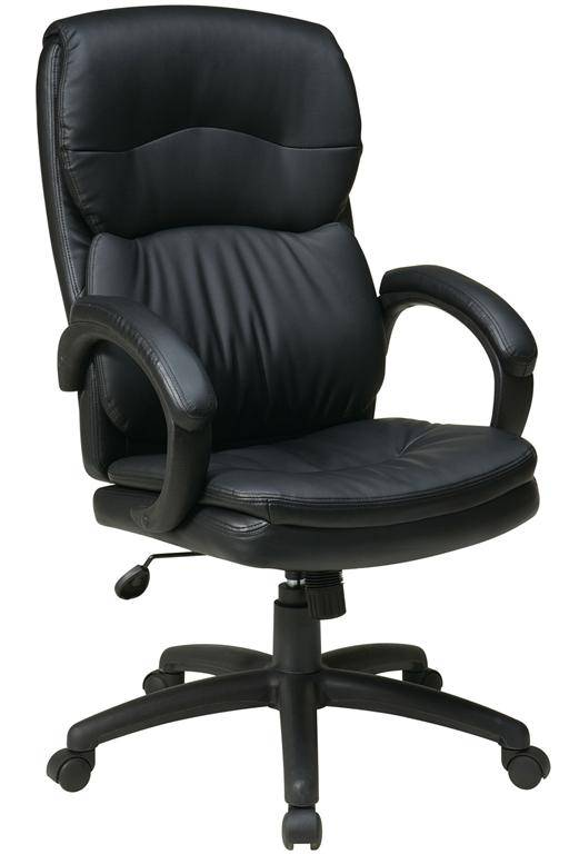 High Back Black Eco Leather Executive Chair With Padded