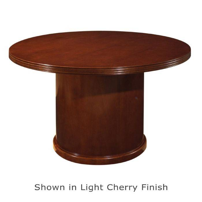 Kenwood 48 Inch Round Conference Table Mahogany Or Light