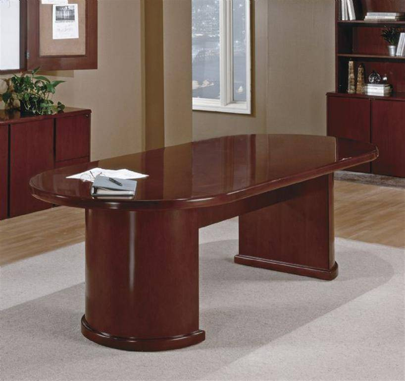 Sonoma 10ft Racetrack Conference Table Dark Cherry Wood