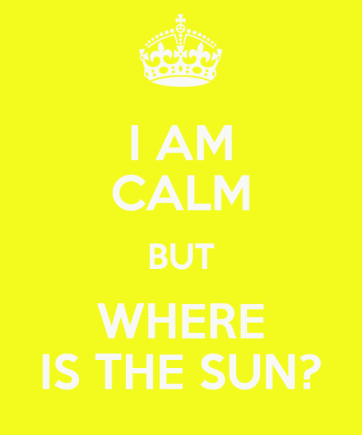 i need sun