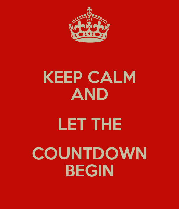Image result for let the countdown begin