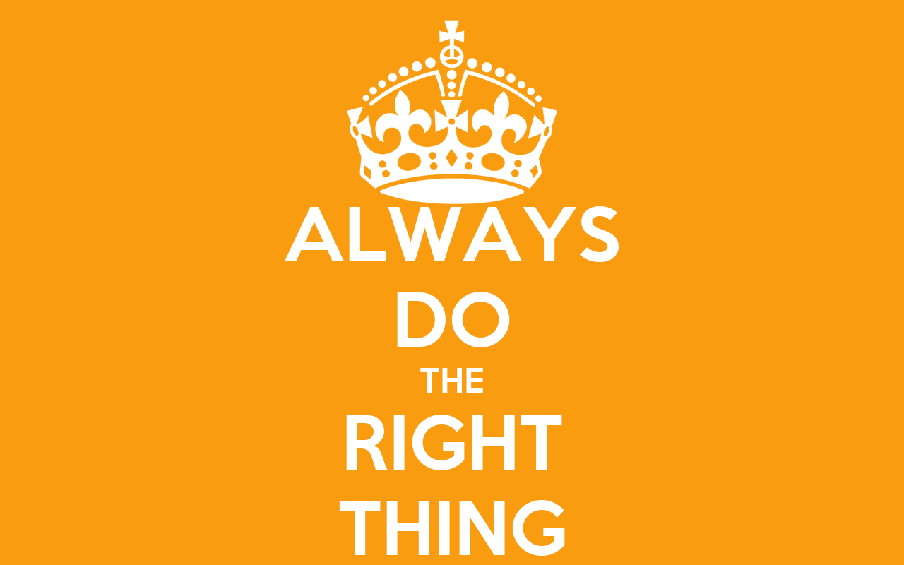Always Do The Right Thing Poster
