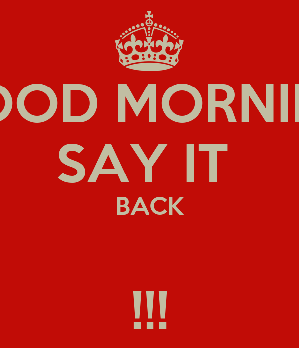 Say Alberta Good Morning