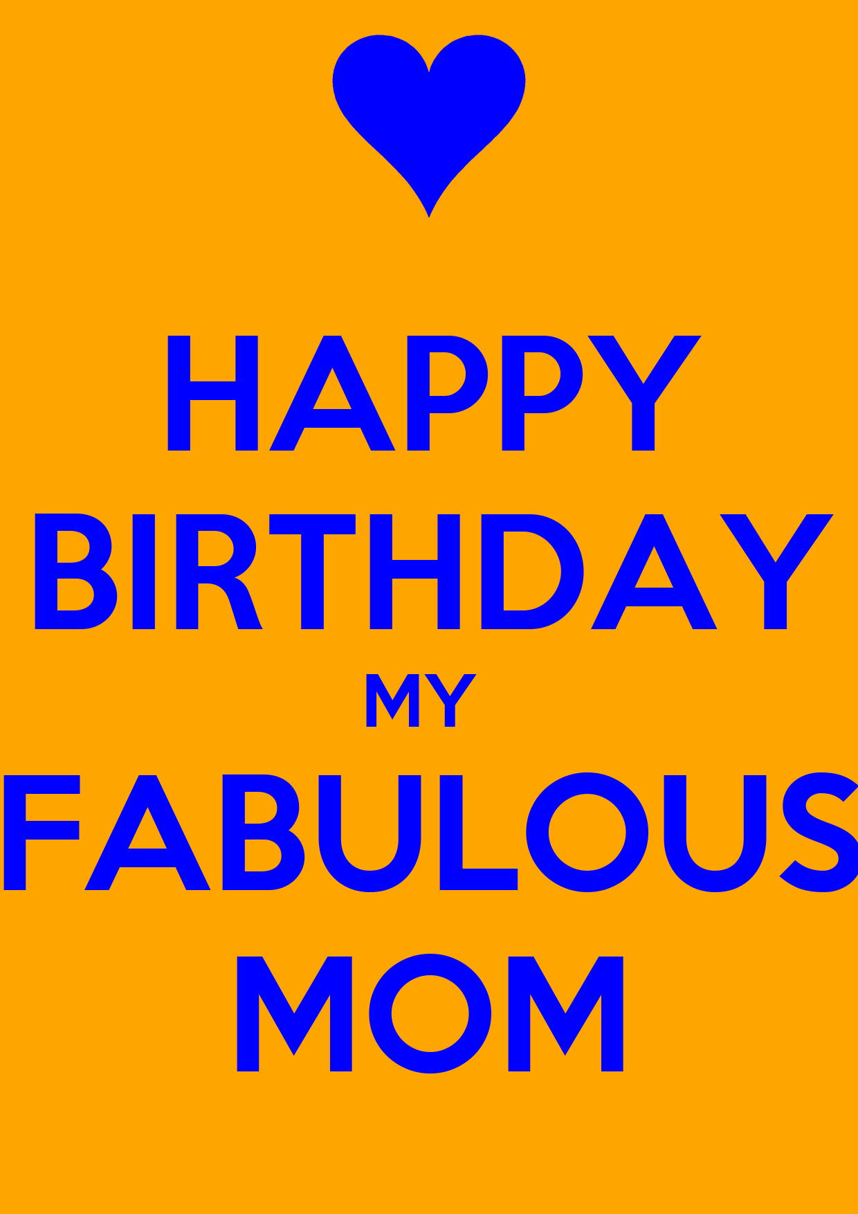 Happy Birthday My Fabulous Mom Poster