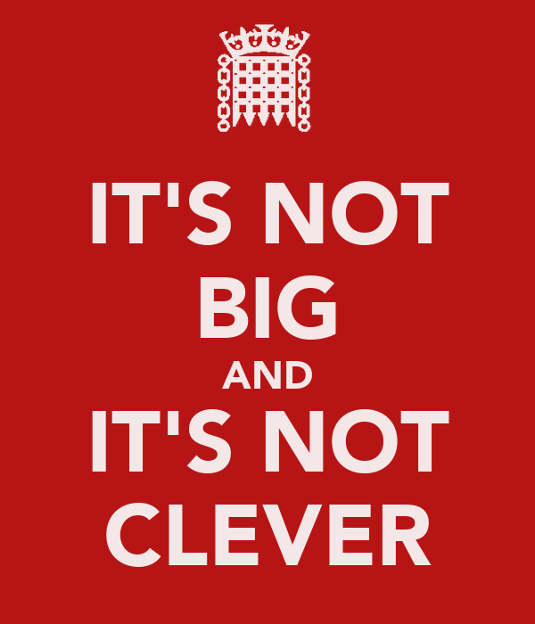 Image result for not big not clever