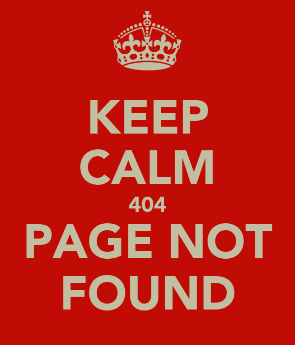 Keep calm page 404 not found