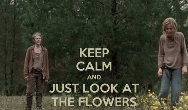 KEEP CALM AND JUST LOOK AT THE FLOWERS Poster ...
