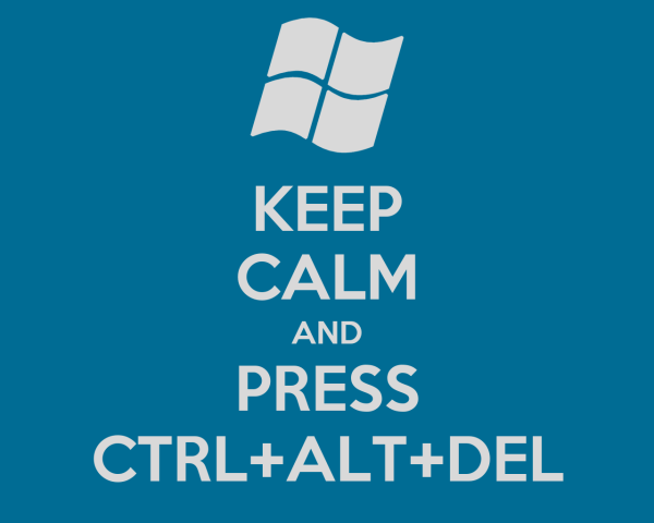 KEEP CALM AND PRESS CTRL+ALT+DEL - KEEP CALM AND CARRY ON ...