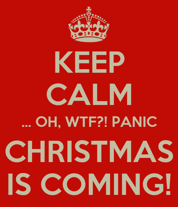 KEEP CALM OH WTF PANIC CHRISTMAS IS COMING Poster