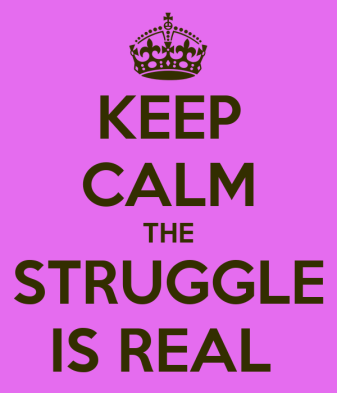 Image result for the struggle is real