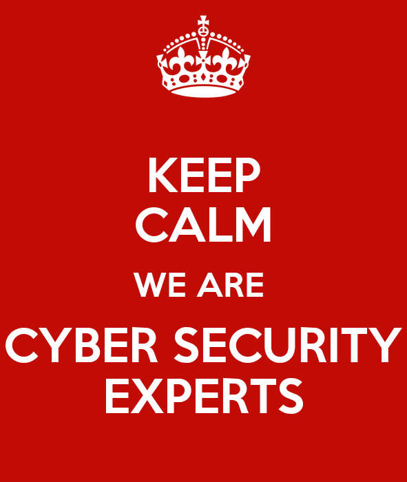 KEEP CALM WE ARE CYBER SECURITY EXPERTS Poster | Nick J ...