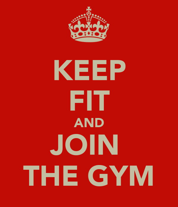 KEEP FIT AND JOIN THE GYM Poster Keep CalmoMatic