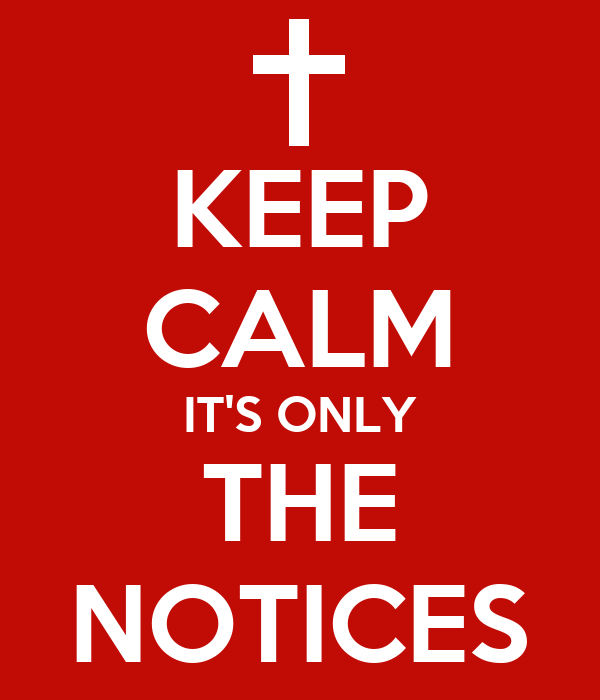 KEEP CALM IT'S ONLY THE NOTICES Poster | Kunnagh | Keep Calm-o-Matic