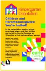 Kindergarten Orientation poster