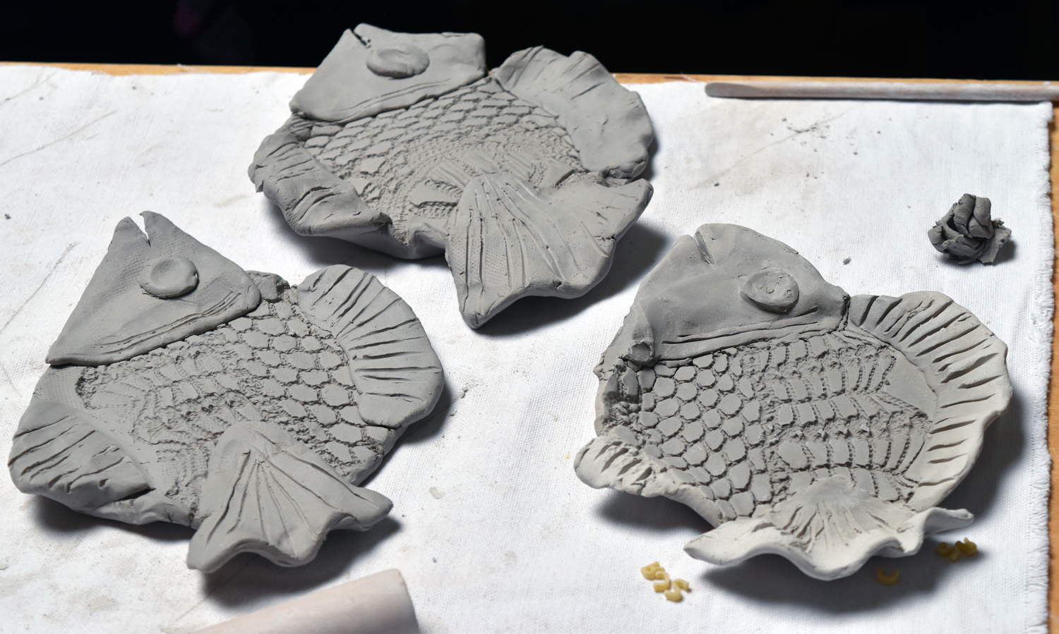 clay fish all done
