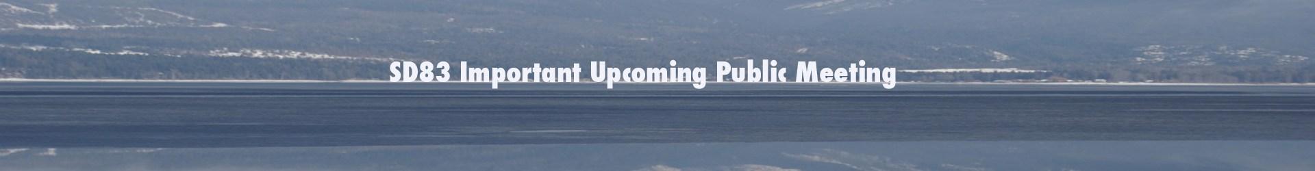 Upcoming public meetings