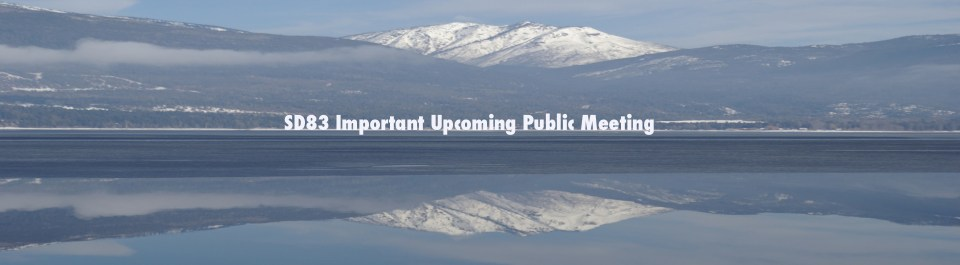 Upcoming public meetings