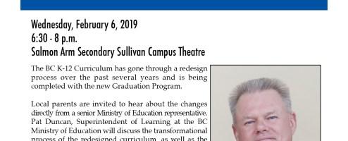 Parent Night, Feb. 6,  New Graduation Program