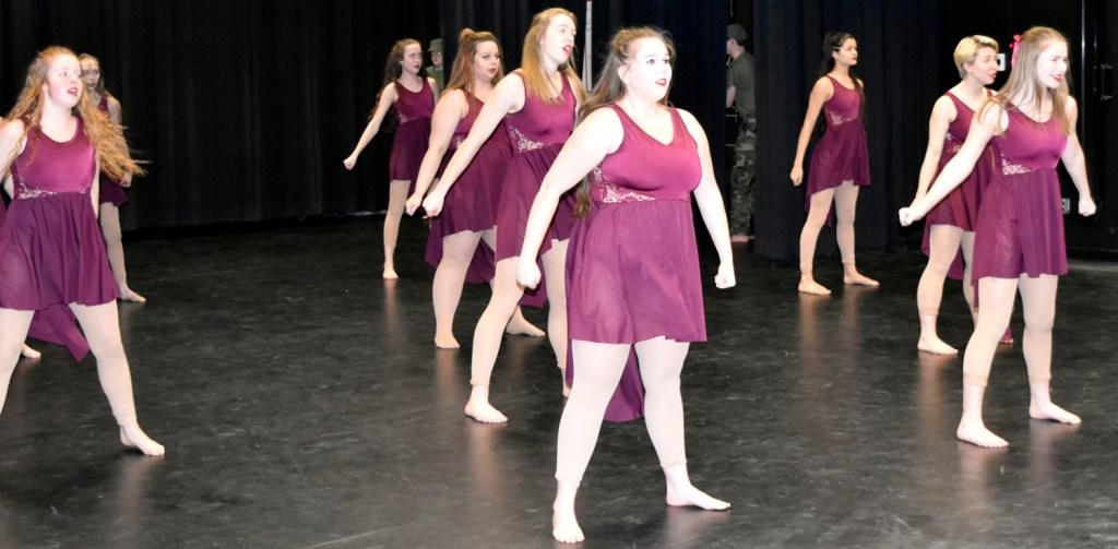 Photos of Dance Team performing