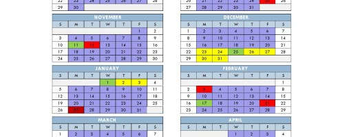 District Calendar set