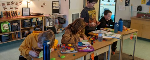Elementary class tackles chequebooks, resumes and financial literacy