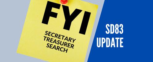 New secretary treasurer announced