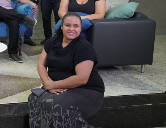 Elvira Espírito Santo said she felt supported by the special weekend program promoted by the Seventh-day Adventist Church. [Photo: South American Division News]