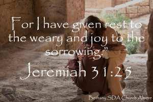Jeremaih 31:25
